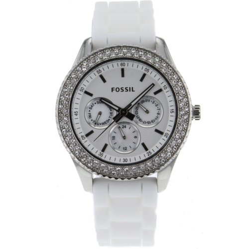 Fossil フォッシル レディース腕時計 Women's ES3001 Stainless Steel Analog White Dial Watch 10000円以上で送料無料