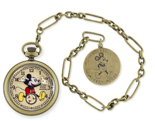 Ingersoll インガーソル 男女兼用 懐中時計 Unisex IND 25835 Ingersoll Mickey Mouse 30's Collection Gold Pocket Watch 10000円以上で送料無料