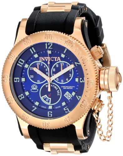 Invicta インビクタ メンズ腕時計 Men's 15568 Russian Diver Analog Display Swiss Quartz Black Watch 10000円以上で送料無料