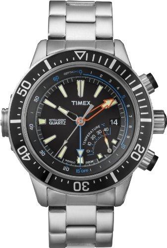 Timex タイメックス メンズ腕時計 Intelligent Quartz T2N809 Mens Indiglo Depth Gauge Thermometer Watch 10000円以上で送料無料