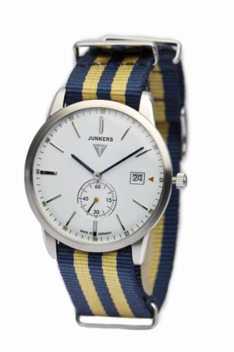 Junkers ユンカース メンズ腕時計 Watches Men's Quartz Watch 6C34-1 with Textile Strap 10000円以上で送料無料