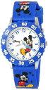 ディズニー 腕時計 キッズ 時計 子供用 ミッキー Disney Kids' W000007 Mickey Mouse Stainless Steel Time Teacher Watch