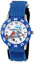 ディズニー 腕時計 キッズ 時計 子供用 プレーンズ ダスティ Disney Kids' W001229 Planes Stainless Steel with Blue Bezel watch, Blue Stretch Nylon Strap,W001229 Analog Display Analog Quartz Blue Watch