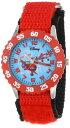 ディズニー 腕時計 キッズ 時計 子供用 プレーンズ ダスティ エル・チュパカブラ Disney Kids' W000882 Planes Fire & Rescue El Chupacabra Dusty Crophopper Stainless Steel Red Bezel Red Nylon Strap Watch