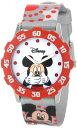 ディズニー 腕時計 キッズ 時計 子供用 ミッキー Disney Kids' W000851 Tween Mickey Mouse Stainless Steel Red Bezel Printed Strap Watch