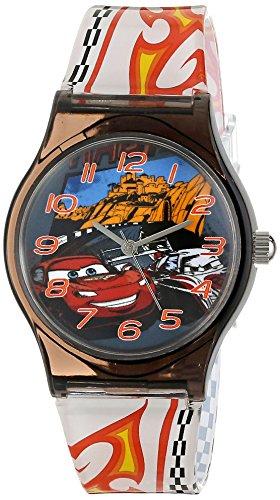 ディズニー 腕時計 キッズ 時計 子供用 カーズ マックィーン Disney Kids' W001204 Disney Tween Cars Plastic Watch, Printed Plastic Strap, W001204 Analog Display Analog Quartz Multi-Color Watch