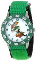 ディズニー 腕時計 キッズ 時計 子供用 モンスターズインク ユニバーシティ テリ&テリー Disney Kids' W000887 Terri and Terry Stainless Steel Green Bezel Green Nylon Strap Watch