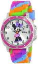 ディズニー 腕時計 キッズ 時計 子供用 ミニー Disney Kids' MN1104 Watch with Tie Dye Rubber Band