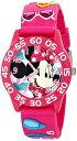 ディズニー 腕時計 キッズ 時計 子供用 ミニー Disney Kids' W001523 Disney Minnie Mouse 3D Plastic Watch, Pink 3D Plastic Strap, ..