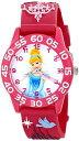 ディズニー 腕時計 キッズ 時計 子供用 シンデレラ Disney Kids' W001511 Disney Princess 3D Plastic Watch, Peach 3D Plastic Strap, W001511 Analog Display Analog Quartz Rose Gold Watch