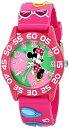 ディズニー 腕時計 キッズ 時計 子供用 ミニー Disney Kids' W001520 Disney Minnie Mouse 3D Plastic Watch, Pink 3D Plastic Strap, W001520 Analog Display Analog Quartz Pink Watch