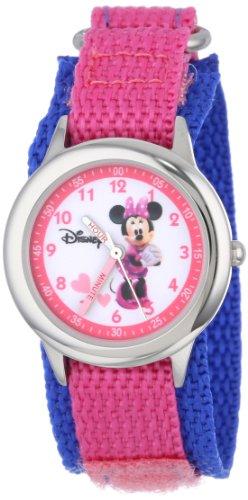 ディズニー 腕時計 キッズ 時計 子供用 ミニー Disney Kids' W000034 Minnie Mouse Stainless Steel Time Teacher Watch