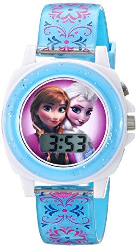 ディズニー 腕時計 キッズ 時計 子供用 アナと雪の女王 アナ エルサ Disney Kids' FZN3588 Frozen Anna and Elsa Digital Display Analog Quartz Blue Watch