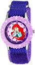 ディズニー 腕時計 キッズ 時計 子供用 リトルマーメイド アリエル Disney Kids' W000963 Ariel Stainless Steel Time Teacher Purple Watch