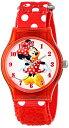 е╟еге║е╦б╝ ╧╙╗■╖╫ ене├е║ ╗■╖╫ ╗╥╢б═╤ е▀е╦б╝ Disney Kids' W001250 Disney Tween Minnie Mouse Plastic Watch, Plastic Printed Strap,W001250 Analog Display Analog Quartz Red Watch