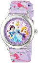 ディズニー プリンセス 腕時計 キッズ 時計 子供用 ディズニープリンセス 白雪姫 シンデレラ ラプンツェル Disney Kids' W001226 Princess Stainless Steel watch, Printed Strap,W001226 Analog Display Analog Quartz Multi-Color Watch
