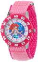 ディズニー 腕時計 キッズ 時計 子供用 リトルマーメイド アリエル Disney Kids' W000867 Ariel Stainless Steel Time Teacher Printed Bezel Pink Nylon Strap Watch