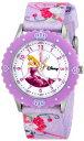 """ディズニー 腕時計 キッズ 時計 子供用 眠れる森の美女 オーロラ姫 Disney Kids' W000366 """"Aurora Time Teacher"""" Stainless Steel Watch with Printed Strap"""
