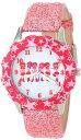 ディズニー 腕時計 キッズ 時計 子供用 モンスターズインク ユニバーシティ ピンク Disney Kids' W000931 Tween Monsters Stainless Steel Printed Bezel Pink Glitter Leather Strap Watch