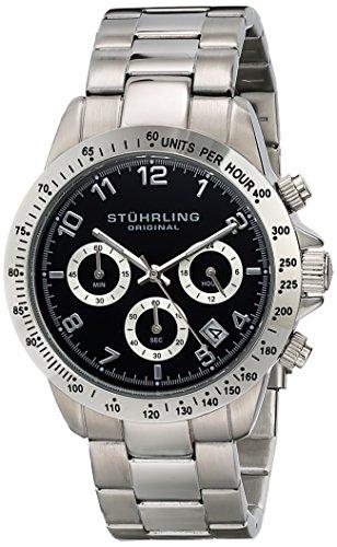 """ステューリング オリジナル 腕時計 メンズ 時計 Stuhrling Original Men's 665B.01 """"Concorso"""" Quartz Chronograph Black Dial Watch ステューリング オリジナル 腕時計 メンズ 時計 Stuhrling Original Men's 665B.01 """"Concorso"""" Quartz Chronograph Black Dial Watch"""