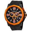 ステューリング オリジナル 腕時計 メンズ 時計 Stuhrling Original Men's 300.332R657 Admiral Swiss Quartz Chronograph Orange Bezel Watch