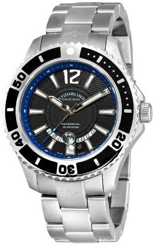 ステューリング オリジナル 腕時計 メンズ 時計 Stuhrling Original Men's 161B4.331151 Nautical Regatta Diver Swiss Quartz Date Stainless Steel Bracelet Watch ステューリング オリジナル 腕時計 メンズ 時計 Stuhrling Original Men's 161B4.331151 Watch