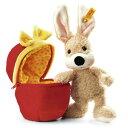 Steiff 80227 シュタイフ ぬいぐるみ ラビット うさぎ Mr. Cupcake Rabbit in Plush Egg (Beige)
