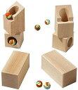 玩具 - HABA ハバ社 木製 おもちゃ 知育玩具 組立てクーゲルバーンセット Rotating Angles Marble Set