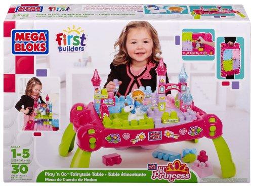 メガブロック テーブル リルプリンセス Mega Bloks First Builders Play 'N Go Fairytale Table