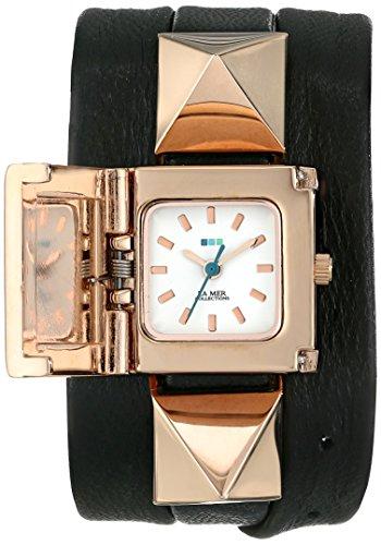 ラメールコレクション 時計 レディース 腕時計 La Mer Collections Women's LMPYRAMID003 Black Rose Gold Cairo Wrap Watch ラメール コレクション レディース 腕時計 La Mer Collections Women's LMPYRAMID003 Black Rose Gold Cairo Wrap Watch