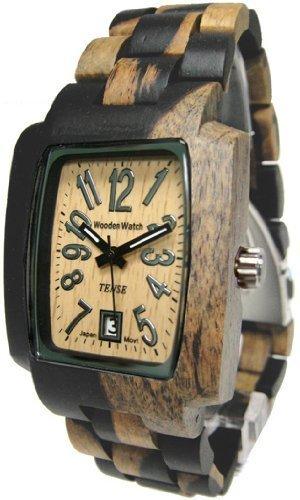 テンス 時計 メンズ 腕時計 木製 Tense Wood Mens Watch Rectagular Hypoallergenic J8102DM LF テンス 時計 メンズ 腕時計 木製 Tense Wood Mens Watch Rectagular Hypoallergenic J8102DM LF