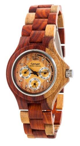 テンス 時計 メンズ 腕時計 木製 Tense Inlaid Multicolor Wood Triple Dial Mens Round Watch G4300I LF テンス 時計 メンズ 腕時計 木製 Tense Inlaid Multicolor Wood Triple Dial Mens Round Watch G4300I LF