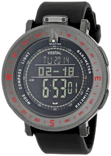 """ベスタル 時計 メンズ 腕時計 Vestal Men's GDEDP04 """"The Guide"""" Grey Stainless Steel Digital Watch ベスタル 時計 メンズ 腕時計 Vestal Men's GDEDP04 """"The Guide"""" Grey Stainless Steel Digital Watch"""