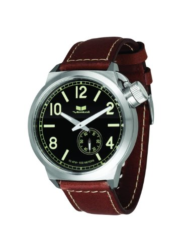 ベスタル 時計 メンズ 腕時計 Vestal Men's CTN3L04 Canteen Black Dial Brown Leather Watch ベスタル 時計 メンズ 腕時計 Vestal Men's CTN3L04 Canteen Black Dial Brown Leather Watch