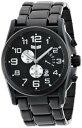 ベスタル 時計 メンズ 腕時計 Vestal Men's DEV002 De Novo Black Ion Plated Retrograde Chronograph Watch