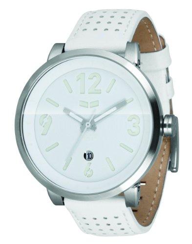 ベスタル 時計 メンズ 腕時計 Vestal Men's DPL003 Doppler Slim Silver With White Leather Watch ベスタル 時計 メンズ 腕時計 Vestal Men's DPL003 Doppler Slim Silver With White Leather Watch