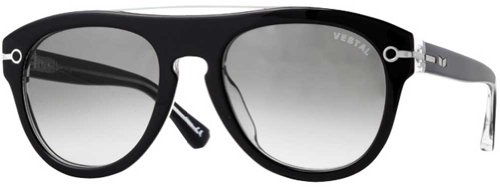 ベスタル サングラス Vestal De Luna VVDL011 Round Sunglasses,Black Clear,54 mm ベスタル サングラス Vestal De Luna VVDL011 Round Sunglasses,Black Clear,54 mm