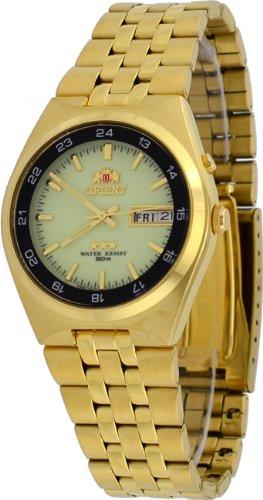 オリエント 時計 スリースター メンズ 腕時計 Orient #FEM6H00GR Men's Gold Tone Sport 50M Tri Star Luminous Dial Self Winding Automatic Watch オリエント 時計 スリースター メンズ 腕時計 Orient #FEM6H00GR Men's Gold Tone Sport 50M Tri Star Luminous Dial Self Winding Automatic Watch