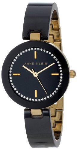 アンクライン 時計 レディース 腕時計 Anne Klein Women's AK/1314BKBK Swarovski Crystal Accented Gold-Tone Black Ceramic Bangle Watch アンクライン 時計 レディース 腕時計 Anne Klein Women's AK/1314BKBK Swarovski Crystal Accented Gold-Tone Black Ceramic Bangle Watch