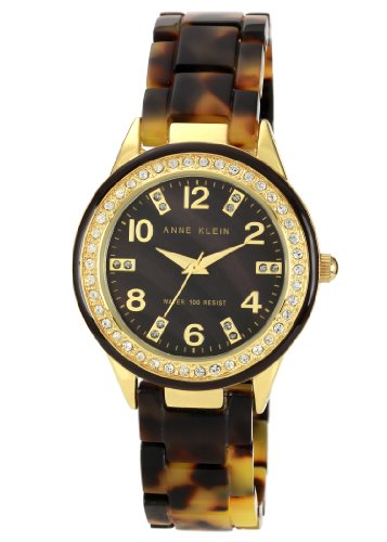 アンクライン 時計 レディース 腕時計 Anne Klein Women's 10/9956BMTO Swarovski Crystal Accented Gold-Tone Tortoise Resin Watch アンクライン 時計 レディース 腕時計 Anne Klein Women's 10/9956BMTO Swarovski Crystal Accented Gold-Tone Tortoise Resin Watch