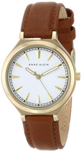 アンクライン 時計 レディース 腕時計 Anne Klein Women's AK/1504WTBN Gold-Tone Case Brown Leather Strap Watch アンクライン 時計 レディース 腕時計 Anne Klein Women's AK/1504WTBN Gold-Tone Case Brown Leather Strap Watch