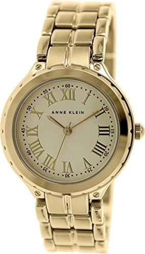 アンクライン 時計 テンス レディース 腕時計 インガーソル Anne スカーゲン Klein Women's AK/1302CHGB Round Gold-Tone Bracelet Watch:i-selection アンクライン 時計 レディース 腕時計 Anne Klein Women's AK/1302CHGB Round Gold-Tone Bracelet Watch