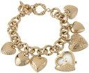 アンクライン 時計 レディース 腕時計 ブレスレットウォッチ Anne Klein Women's AK/1486CHRM Gold-Tone Heart Ch...