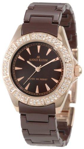 アンクライン 時計 レディース 腕時計 Anne Klein Women's 10/9682RGBN Brown Ceramic Bracelet Rosegold-Tone Watch アンクライン 時計 レディース 腕時計 Anne Klein Women's 10/9682RGBN Brown Ceramic Bracelet Rosegold-Tone Watch