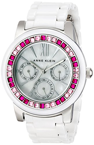 アンクライン 時計 レディース 腕時計 Anne Klein Women's AK/1683PKWT Pink and Fuchsia Swarovski Crystal Accented White Ceramic Bracelet Watch アンクライン 時計 レディース 腕時計 Anne Klein Women's AK/1683PKWT Pink and Fuchsia Swarovski Crystal Accented White Ceramic Bracelet Watch