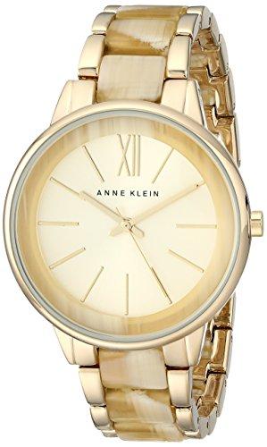 アンクライン 時計 レディース 腕時計 Anne Klein Women's AK/1812CHHN Gold-Tone and Horn Bracelet Watch アンクライン 時計 レディース 腕時計 Anne Klein Women's AK/1812CHHN Gold-Tone and Horn Bracelet Watch