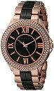 アンクライン 時計 レディース 腕時計 Anne Klein Women's AK/1808BKRG Swarovski Crystal Accented Rose Gold-Tone and Black Ceramic Bracelet Watch