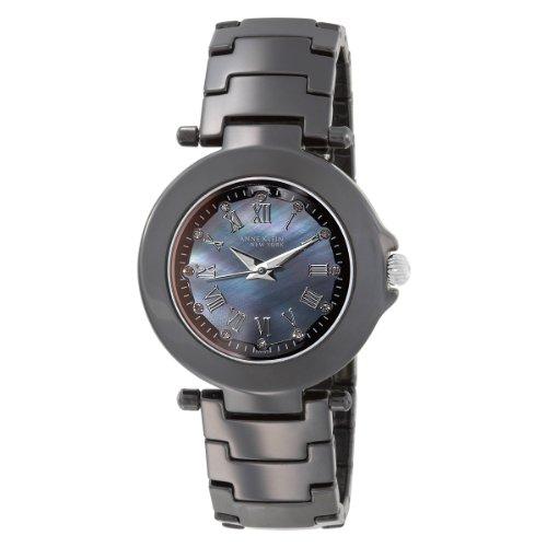 アンクライン 時計 レディース 腕時計 Anne Klein New York Women's 121935BMBB Black Ceramic and Diamond Bracelet Watch アンクライン 時計 レディース 腕時計 Anne Klein New York Women's 121935BMBB Black Ceramic and Diamond Bracelet Watch