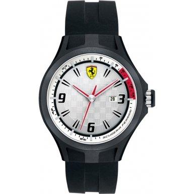 フェラーリ スクーデリア 時計 腕時計 グッズ Scuderia Ferrari Gents SF101 'Pit Crew' Black Watch with White Dial 44mm 0830001 フェラーリ スクーデリア 時計 腕時計 グッズ Scuderia Ferrari Gents SF101 'Pit Crew' Black Watch with White Dial 44mm 0830001