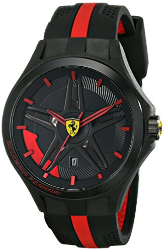 フェラーリ 時計 メンズ 腕時計 グッズ Ferrari Men's 0830160 Lap Time Analog Display Quartz Black Watch フェラーリ 時計 メンズ 腕時計 グッズ Ferrari Men's 0830160 Lap Time Analog Display Quartz Black Watch